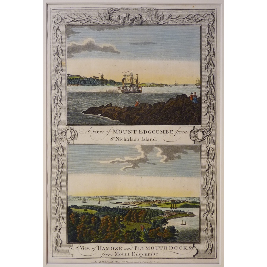 A view of mount edgcumbe and . | Storey's