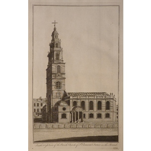 South west view of the parish church of st clement danes in the strand