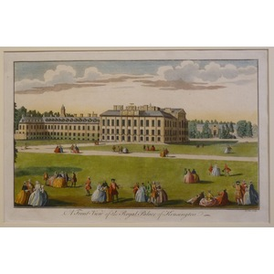 A front view of the royal palace of kensington