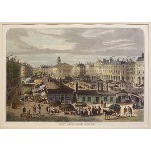 Covent garden market about 1820