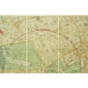 Stanfords library map of london and its suburbs - west london