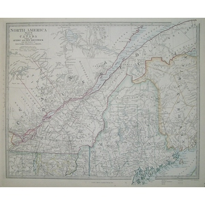 Canada with quebec &  new brunswick - north america - sheet 2