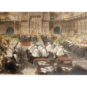 Queen victoria opening her seventh parliament