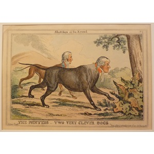 The pointers - two very clever dogs - sketches of the kennel - plate no.5