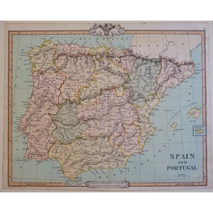 Spain and Portugal - Cruchley, 1852