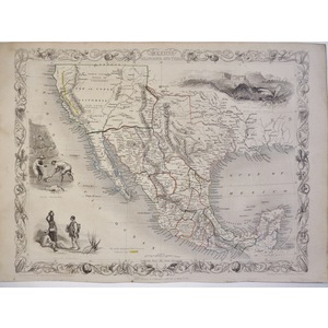 Mexico, California and Texas - Tallis, 1851