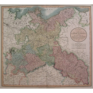 A new map of the circle of upper saxony - cary 1806