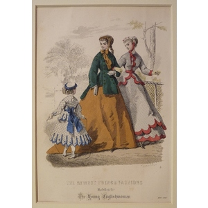 The newest french fashions - plate 5, may 1867