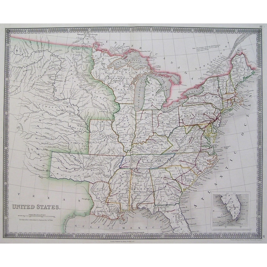 United states - teesdale 1844 | Storey's