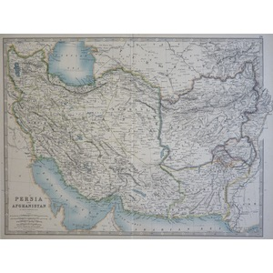 Persia and Afghanistan - Original antique map by A.K. Johnston, 1886