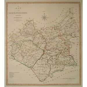 A map of leicestershire - Cary, 1805