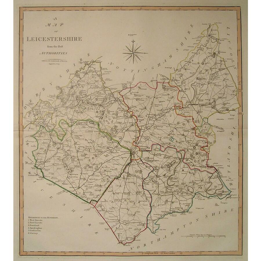 A map of leicestershire - Car. | Storey's