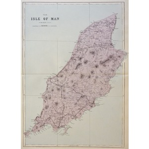 The Isle of Man - Original antique map. Published by G.W. Bacon, 1881 for the