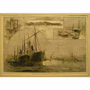 Sketches on the thames during the strike
