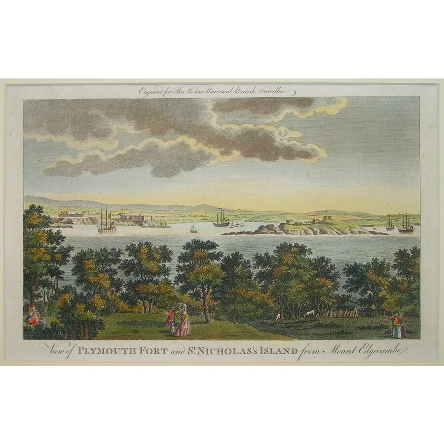 View of plymouth fort and st.. | Storey's