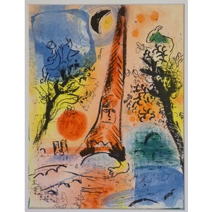 Vision of paris - chagall