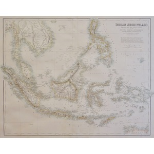 Indian Archipelago Compiled from the Various Surveys of the British & Dutch Governments... - Orig...