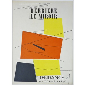Untitled - Cover for Derriere le Miroir, No 50 by Pablo Palazuelo. Published by Maeght, 1952
