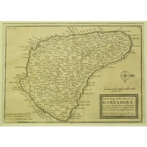 A new map of the island of barbadoes - h. Moll, 1717