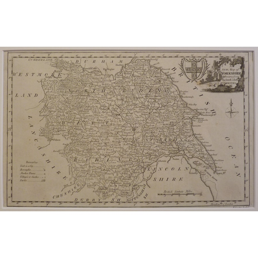 A new map of the north riding. | Storey's