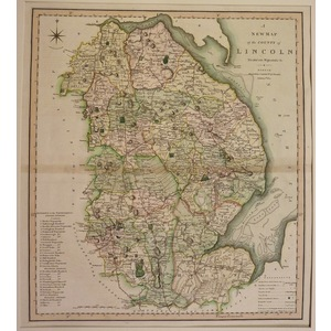 A new map of the county of lincoln