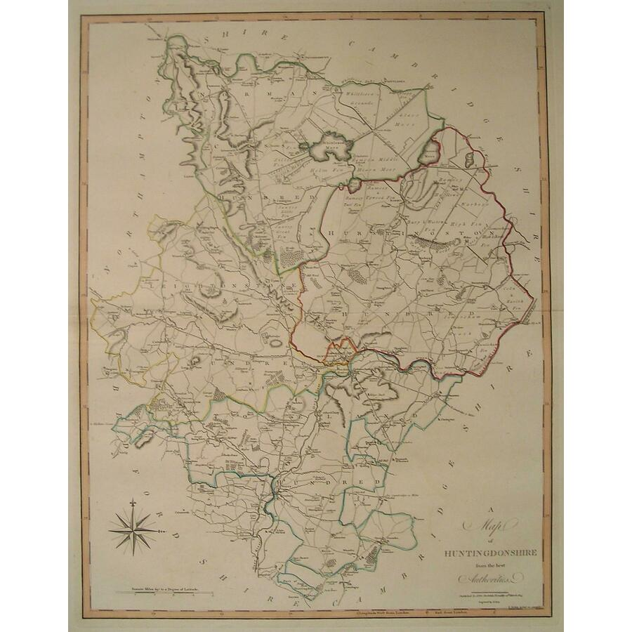 A map of huntingdonshire | Storey's