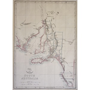South Australia - Original antique map by E. Weller, 1863