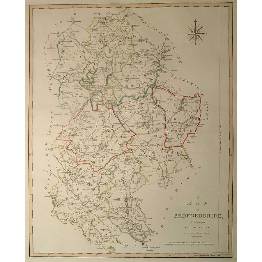 A map of bedfordshire | Storey's