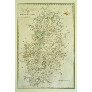 A map of nottinghamshire - Cary, 1789