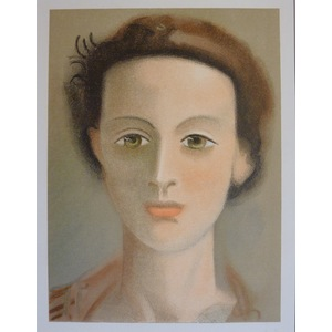 Derrain, Andre - Portrait of Girl - Original lithograph after the painting.  Published by Teriade...