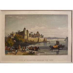 View of allahabad, showing the fort