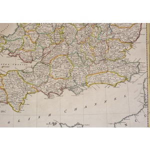 An Accurate Map of England and Wales - Original antique map by Thomas Kitchin, 1780