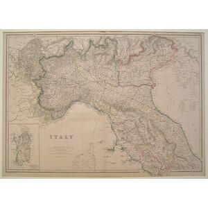 Italy (north part) - blackie & son, 1875