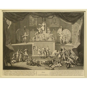 An emblamatic print on the south sea & the lottery (set of two)
