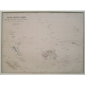 South pacific ocean - the new hebrides, loyalty, feejee and friendly islands
