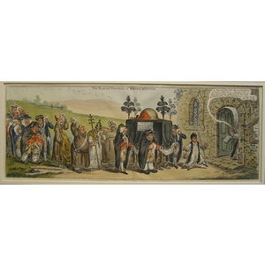 The funeral procession of broad-bottom