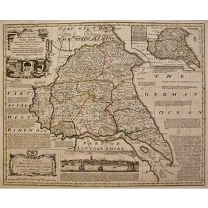 An accurate map of the east riding of yorkshire - bowen, 1780