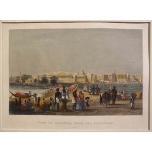 View of calcutta from the esplanade (set of two)