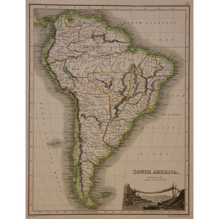 South America - Thomson, 1827 | Storey's