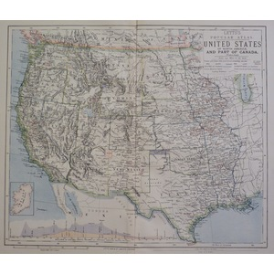 United states of north america and part of canada - letts, 1885