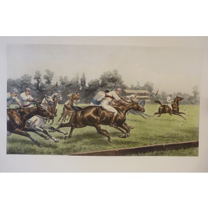Polo. Handcoloured copper engraving by G D Giles, reissued from the original plate