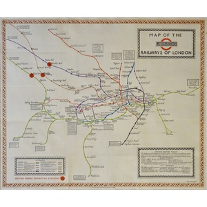 Map of the Underground Railways of London - Original map designed by MacDonald Gill