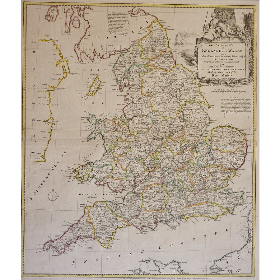 An Accurate Map of England an.   Storey's