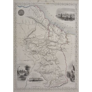 British Guayana - Original antique steel engraved map.  With original hand-colour.  Published by ...