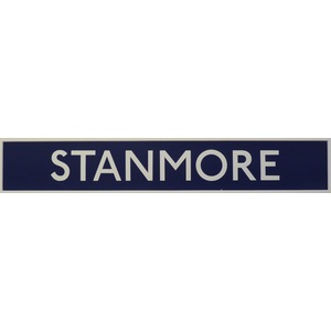 London underground station signs - stanmore