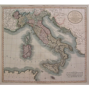 A new map of italy - cary 1806