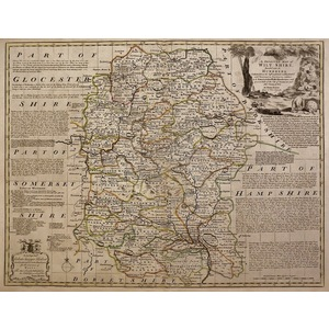 An improved map of wiltshire - bowen, 1780