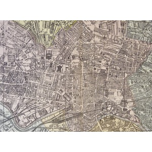 Leeds, Plan of  - Original antique map. Published by G.W. Bacon, 1881 for the