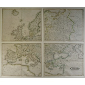 Europe, lizars - set of four