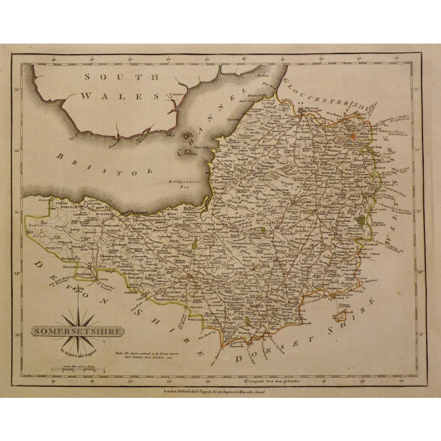Somersetshire - cary 1793 | Storey's